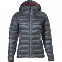 Rab Electron Down Jacket - Women's - Graphene/Peony