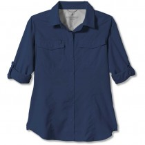 Royal Robbins Expedition Long Sleeved Shirt - Women's - Deep Blue