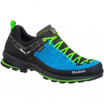 Salewa Mountain Trainer 2 GTX Boots - Men's - Blue Danube/Fluro Green
