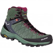 Salewa Alp Trainer 2 Mid GTX Hiking Boots - Women's - Duck Green/Rhododendron