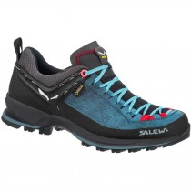 Salewa Mountain Trainer 2 GTX Boots - Women's - Dark Denim/Fluro Coral