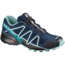 Salomon Speedcross 4 Women's Fell and Trail Running Shoe - Poseidon/Eggshell Blue/Black