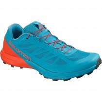 Salomon Sense Pro 3 Trail Running Shoe - Fjord Blue/Cherry Tomato/Urban Chic
