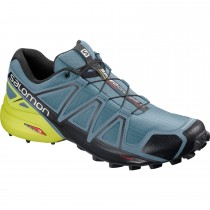 Salomon Speedcross 4 Fell/Trail Running Shoe - Bluestone/Black/Sulphur Spring