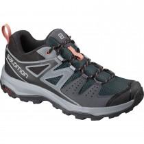 Salomon X Radiant Women's Hiking Shoes - Ebony/Quarry/Tawny Orange