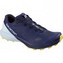Salomon Sense Pro 3 Trail Running Shoe - Patrioblu/Cashmere Blue/Aurora