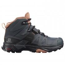 Salomon X Ultra 4 Mid GTX Walking Boot - Women's - Ebony/Mocha Mousse/Almond Cream