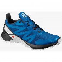 Salomon Supercross Trail Running Shoes - Men's - Indigo Bunting/Black/White