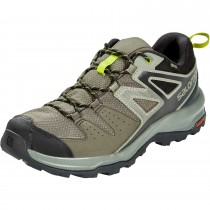 Salomon X Radiant GTX Hiking Shoes - Men's - Beluga/Castor Grey/Citronelle
