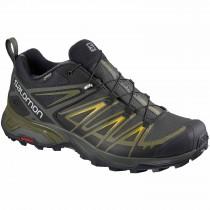 Salomon X Ultra 3 GTX Approach Shoe - Men's - Castor Grey/Beluga/Green Sulphur