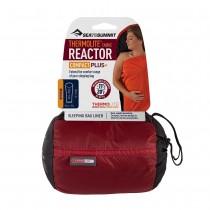 Sea to Summit Reactor Plus Compact Sleeping Bag Liner - Red/Black