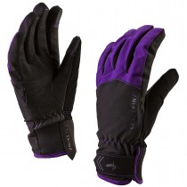 Sealskinz All Season Waterproof Women's Gloves - Black/Purple