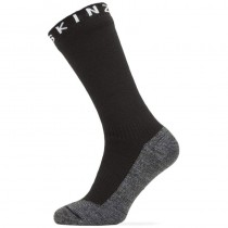 Sealskinz Waterproof Warm Weather Soft Touch Mid Length Sock - Black/Grey Marl/White