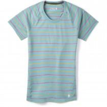 Smartwool Merino 150 Baselayer Short Sleeve - Womens - Wave Blue Stripe