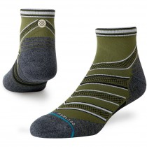 Stance Conflicted Qtr Running Socks - Men's - Green