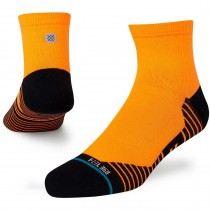Stance Hiatus QTR Socks - Neon Orange