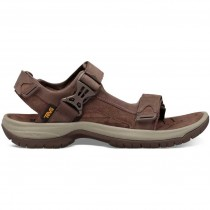 Teva Tanway Leather Sandals - Men's - Chocolate Brown