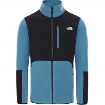 The North Face Glacier Pro Full Zip Jacket - Men's Fleece - Mallard Blue/TNF Black