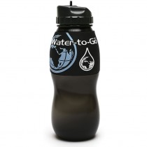 Water to Go Bottle 75cl Water Filtration Bottle - Black