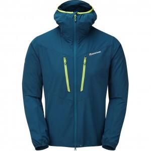 Montane Alpine Edge Jacket - Men's Softshell - Narwhal Blue/Citrus Green