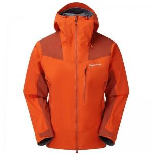 Montane Alpine Resolve Waterproof Jacket - Men's - Firefly Orange/Uluru Red