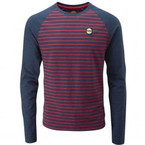 Moon Striped Bamboo Tech T-Shirt - Men's - Indigo/Red