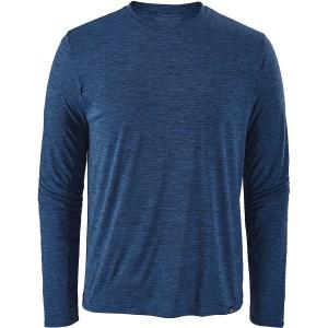 Patagonia Long-Sleeved Cap Cool Daily Shirt - Viking Blue/Navy Blue X-Dye