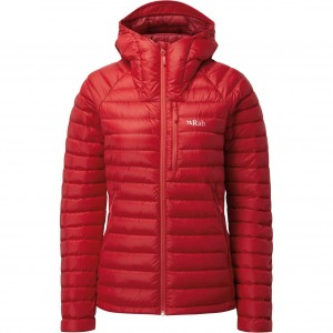 Rab Microlight Alpine Down Jacket - Women's - Ruby/Crimson