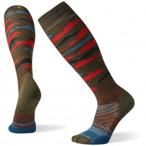 Smartwool PhD Ski Light Elite Pattern Sock - Military Olive