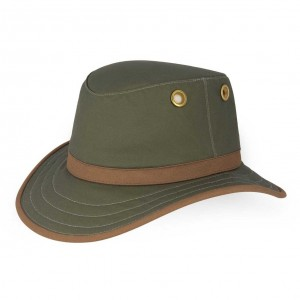 Tilley TWC7 Outback Hat - Green/Tan