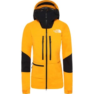 The North Face Summit L5 Jacket - Women's - Knockout Orange/TNF Black