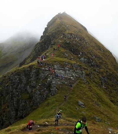 Salomon Ring of Steall Skyrace - the Devil's Ridge