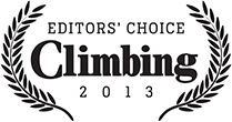 Climbing Magazine Editors Choice award logo