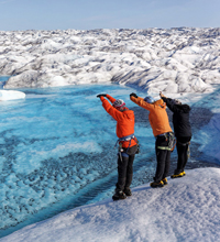 West Greenland glacier expedition