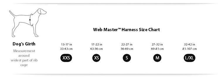 Ruffwear Front Range Harness Size Guide