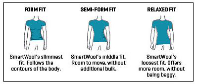 Smartwool womens tops fit guide
