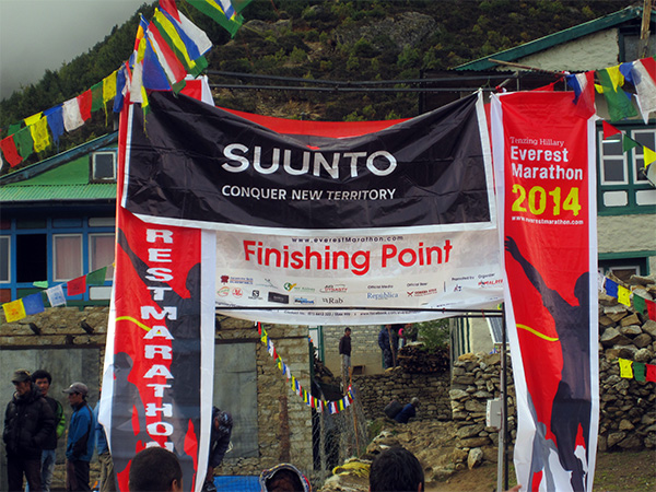 Everest Marathon 2014 Finish Line