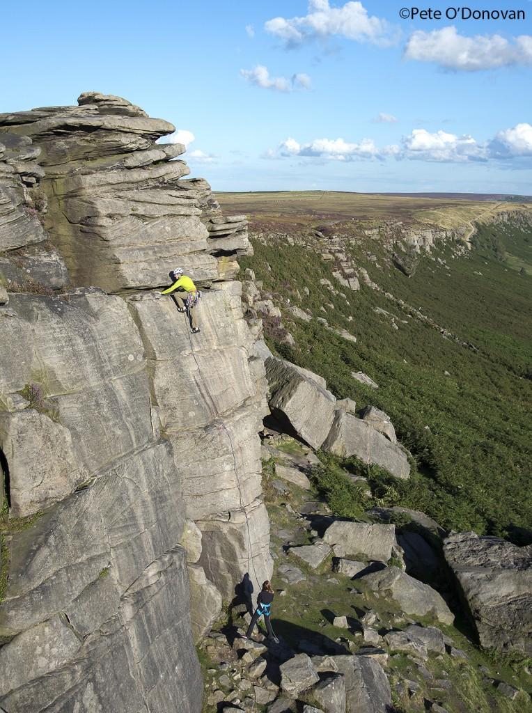 Robert climbing High Neb Buttress too fast!