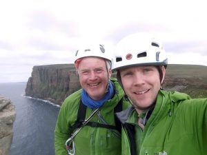 Me and the old man on The Old Man of Hoy