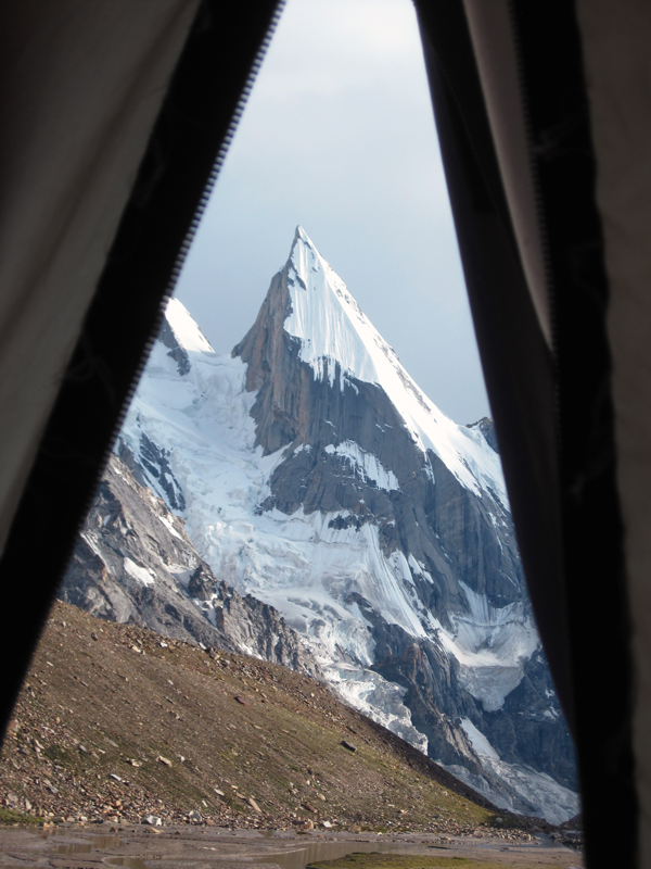 View of Laila Peak from my tent