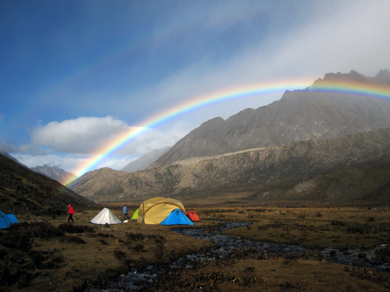 Minya Konka Trek Upper Riwoche camp