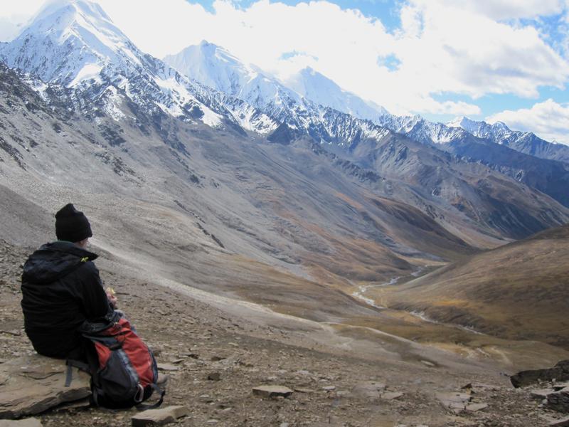 View from Bhuchu La 4900m