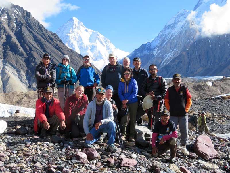 The team in front of Karakorum