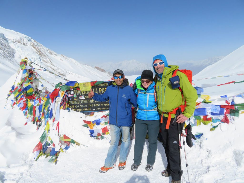 On top of Thorung-la 5400m