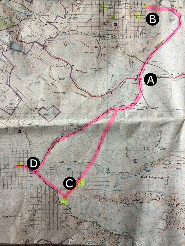 Aircraft wreck site map