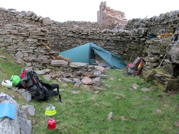 A typical campsite