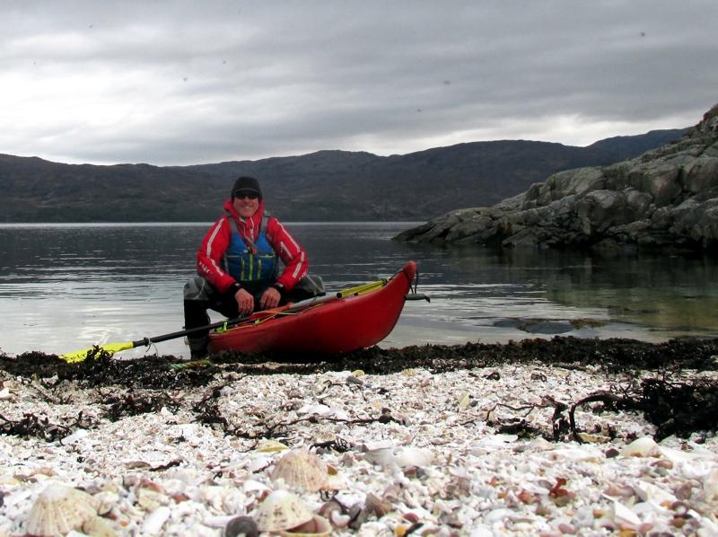 Skye sea kayaking - Happy kayaker