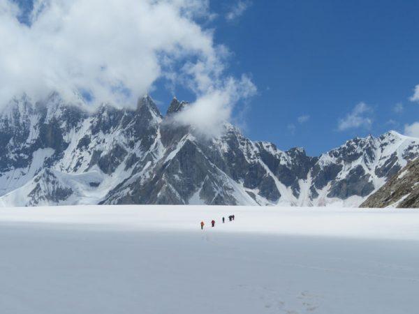 Crossing the Vigne Glacier