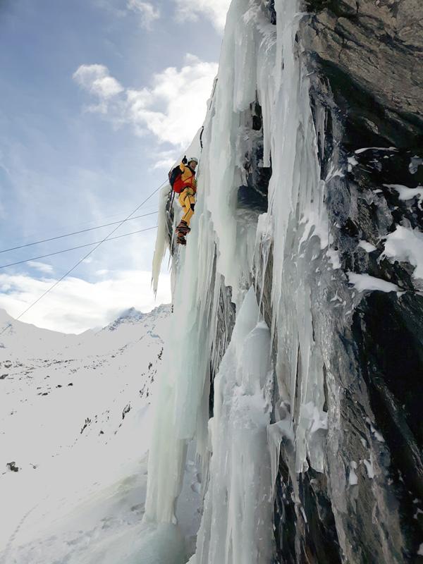 The North Face Gear Test - James Ice Climbing - Zermatt