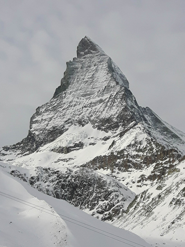 The North Face Gear Test Matterhorn from ski slopes